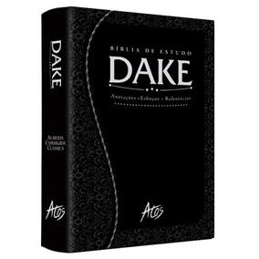 Bíblia De Estudo Dake Preta Trabalhada