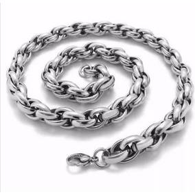 Corrente/cordão Masculino Em Aço Inox 316l 65cmx10mm