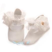 Zapatos Bautizo Bebe Lujo Ceremonia Niñas 15-10