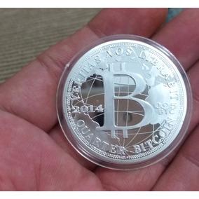 Moeda Prata Bitcoin Mercado Litcoin Dogecoin, Btc Silk Road