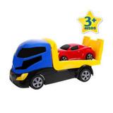 Camion Grua Con Plataforma Y Auto Marca Homeplay