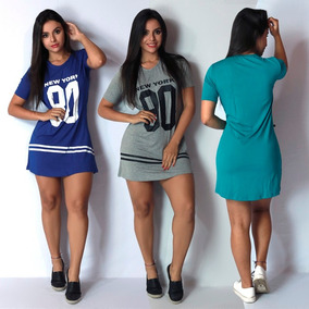Camisa Longline Vestido Camisão Feminino Ny Kings Swag