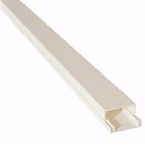 Canaleta Blanca Para Pared 20x10x0.7x2000mm Adhesivo
