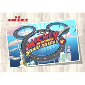 Mickey Aventura Sobre Ruedas Kit Imprimible Candy Bar Regalo