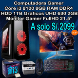 Computadora Core I3 8100 8gb Ram 1tb Hdd Monitor 21.5
