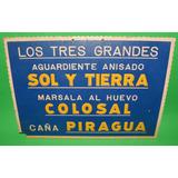 Antiguo Cartel De Carton Sol Y Tierra Colosal Piragua