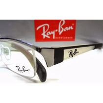 Armação Óculos Modelo Rb6124 Preta, Prata Ou Grafite