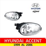 Faros Antiniebla Hyundai Accent 1999 Al 2006 Punta Diamante