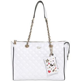 Hermosa Cartera Guess Color Blanco.