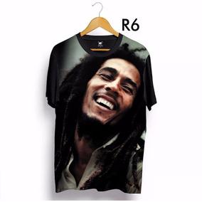 Camiseta Bob Marley Estampa Total 3d Ydias