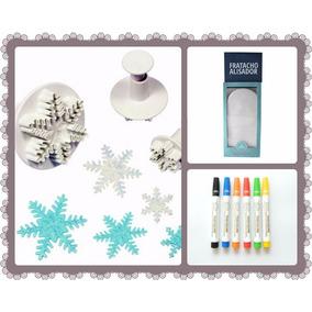 Expulsor Cortantes Copos Nieve Frozen +fratacho +marcadores