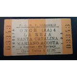 Boleto De Tren De Once A La Reja Santa Catalina