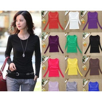 Lote De 10 Blusas Termicas De Colores De Mujer Moda Japonesa