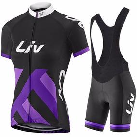 Uniforme Ciclismo Liv 2017 Negro Dama, Jersey + Short Bib