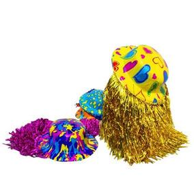 12 Sombreros Bombin Peluca Metal Fiesta Boda Muchos Colores
