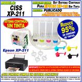 Sistema Continuo P/ Impresora Epson Xp-211 Sin Tinta Moritzu