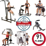 Gimnasios Gym 91 Planos Maquinas De Ejercicios + Traductor