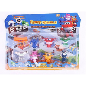 Kit Com 8 Super Wings Mini Aviões Discovery Kids Transformer
