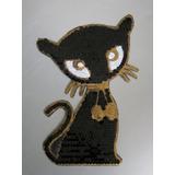 Black Cat En Lentejuelas Termo Aplicable Nueva