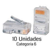 Ficha Rj45 Para Cable Red Utp Conector Plug Rj 45 Cat6 X10u