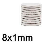100 Imanes De Neodimio 8x1 Mm Ultrapotentes