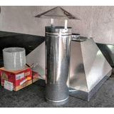 Coifa Industrial Kit Completo Com Exaustor Duto E Chapéu