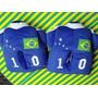 Pantufa Camisa 10seleção Brasileira Nº 25/26 Azul- Pé Quente