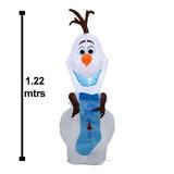 Inflable Navideño Olaf Frozen Con Luz 1.22 Mtr Envío Gratis