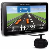 Gps Multilaser Tracker 3 + Câmera De Ré Tv Digital Gp035 Fm