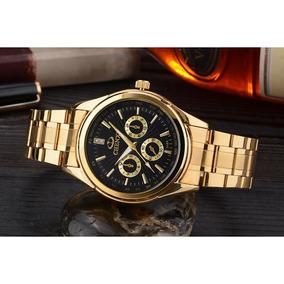 de0307a2b84 Relógio Lindo Barato Original Quartzo Mulheres Ouro + Brinde · R  129 99