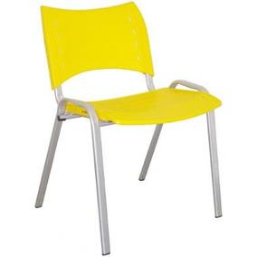 Cadeira Plástica Multivisao Colorida Amarela Cad-stillus-am