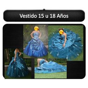 Vestido De Xv Años Azul Petroleo Dos Piezas