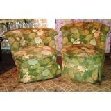 ac hermoso y antiguo par de sillones butaca para dormitorio