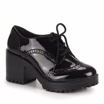 Sapato Oxford Feminino Via Marte 17-6499 Preto