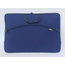 Capa Case Luva Para Notebook C/ Bolso 17,3 Azul -kit 4 Peças