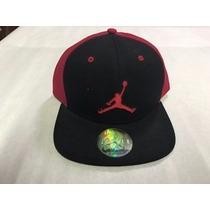 Gorra Original Jordan Negro Con Rojo