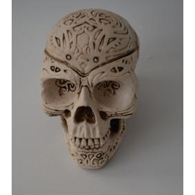 Cráneo Calavera Resina Grabada , Decoración, Alagero