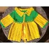 Tapado Saco Tejido A Crochet Nuevo Nena 1-2 Años