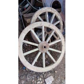 Roda De Carroça Antiga. 70 Cm. Original (frete Gratis)