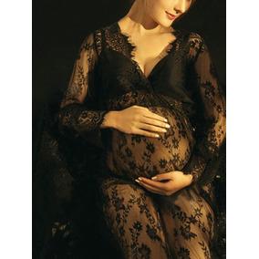 Vestido De Embarazo Maternidad Sexy Encaje Sesión Fotos Blan