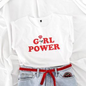 T Shirt Feminina Girl Power Camiseta Tumblr