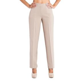 Pantalón Clásico Recto De Mujer - Tela Zara   Chima
