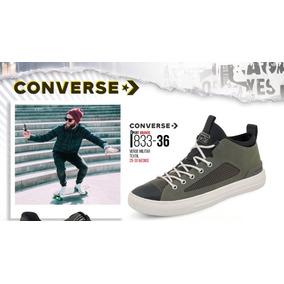 Tenis Converse P/hombre 833-36 Verde Militar