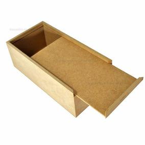 Caixa Para Giz Canetas Ou Trecos 20x10x8 Mdf Cru Madeira