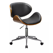 Sillon Ejecutivo Silla De Oficina Pc Madera Diseño Premium