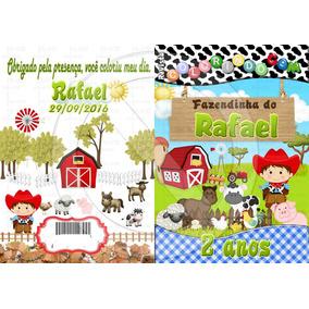 30 Kits Revista De Colorir + Giz De Cera Personalizado 15x20