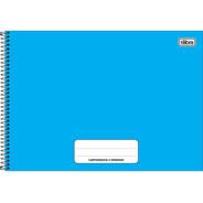 Caderno De Cartografia E Desenho Espiral Pepper  Azul 80 Fls