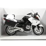 Moto Bmw Rt1200-p Motocicleta Da Polícia 18 Cm Metal 1:12