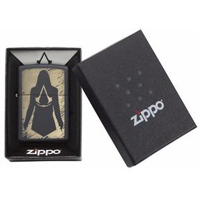 Encendedor Zippo Assasains Creed Figura Silueta Negro 29488