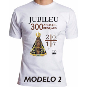 Camiseta 300 Anos Aparição Nossa Senhora Aparecida Jubileu
